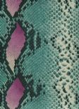 Jungle Club Wallpaper Mamushi 40-Teal By Wemyss Covers Wallcoverings